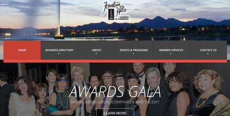 Sticky Menu Created for Fountain Hills Chamber of Commerce