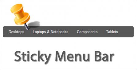Sticky Menu Bar Navigation Graphic