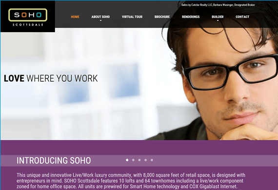 Screenshot of SOHO Scottsdale Web Design