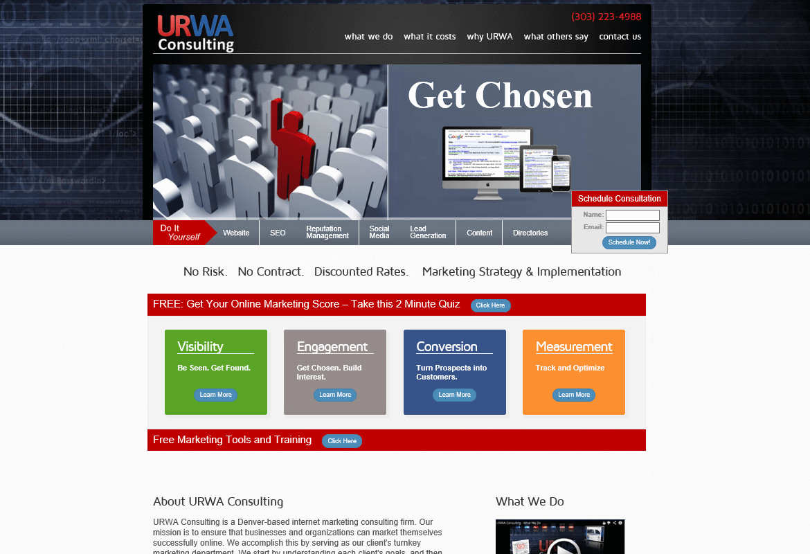 Screenshot of Custom e-Commerce Web Application for URWA Consulting